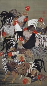 伊藤若冲鶏画像